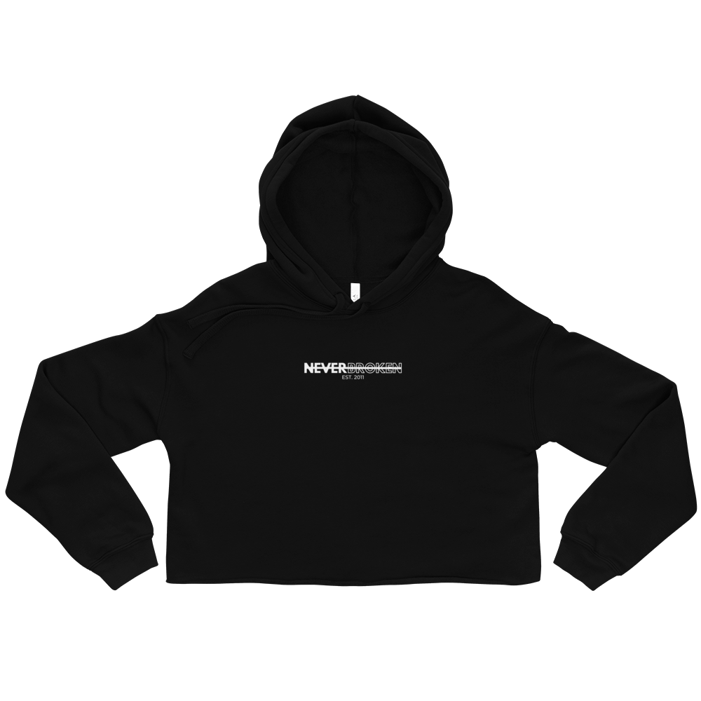 Image of NB Crop Hoodie (Black)