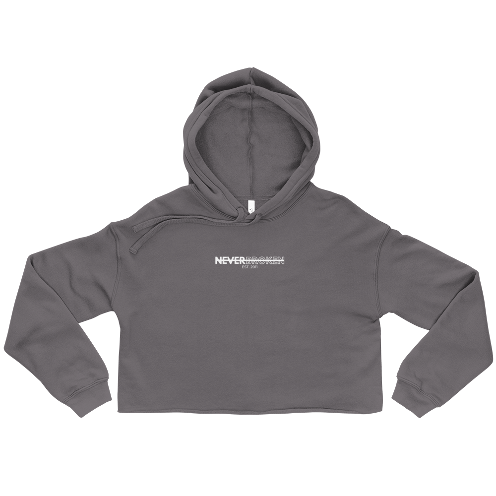 Image of NB Crop Hoodie (Storm Grey)