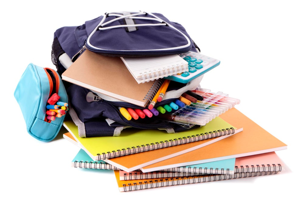 Image of #4 Elementary School Supplies and backpack