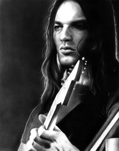 Image of David Gilmour Charcoal