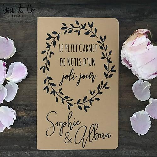 Image of Carnet de notes d'un joli jour (préparatifs mariage)