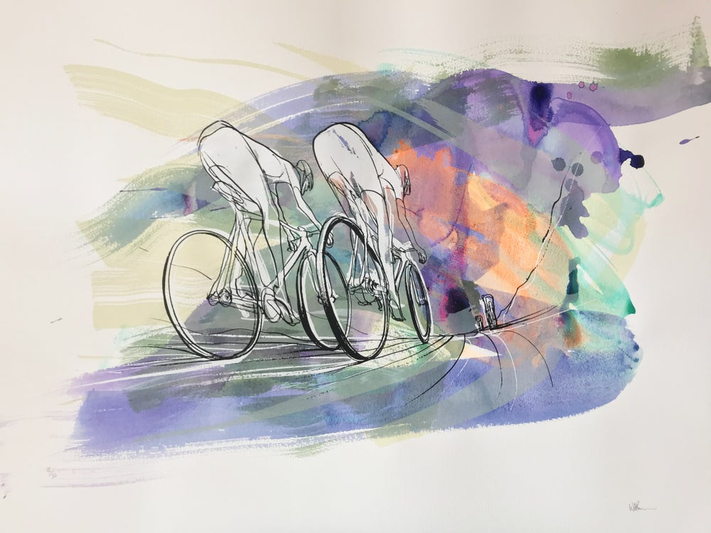 Image of Tour de France, Silkscreen print by WILL BARRAS