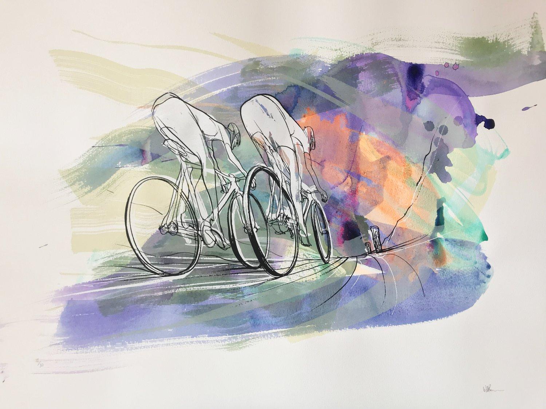 Image of Tour de France, Silkscreen print by WILL BARRAS