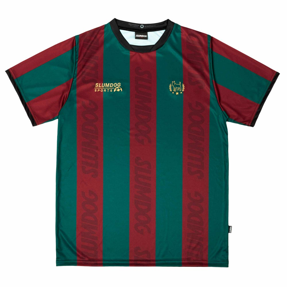 Image of FOOTBALL JERSEY <br> GREEN BORDEAUX