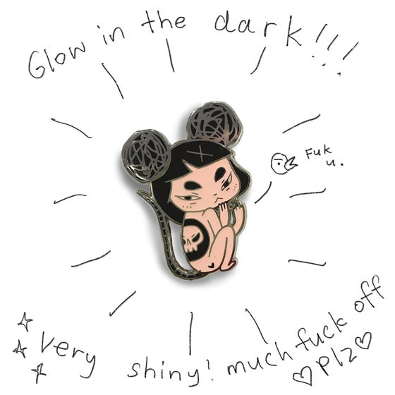 Image of Fk u Nezumi Mouse Girl Pin