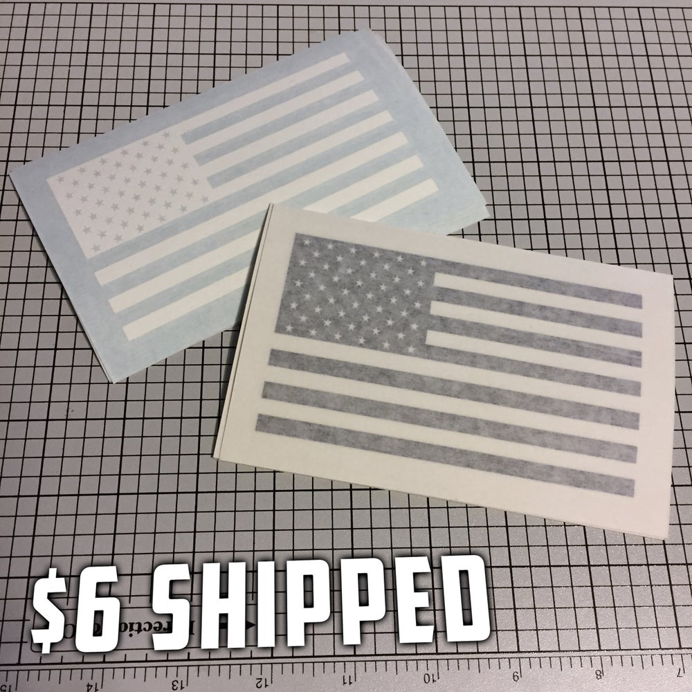 Image of American Flag Decal