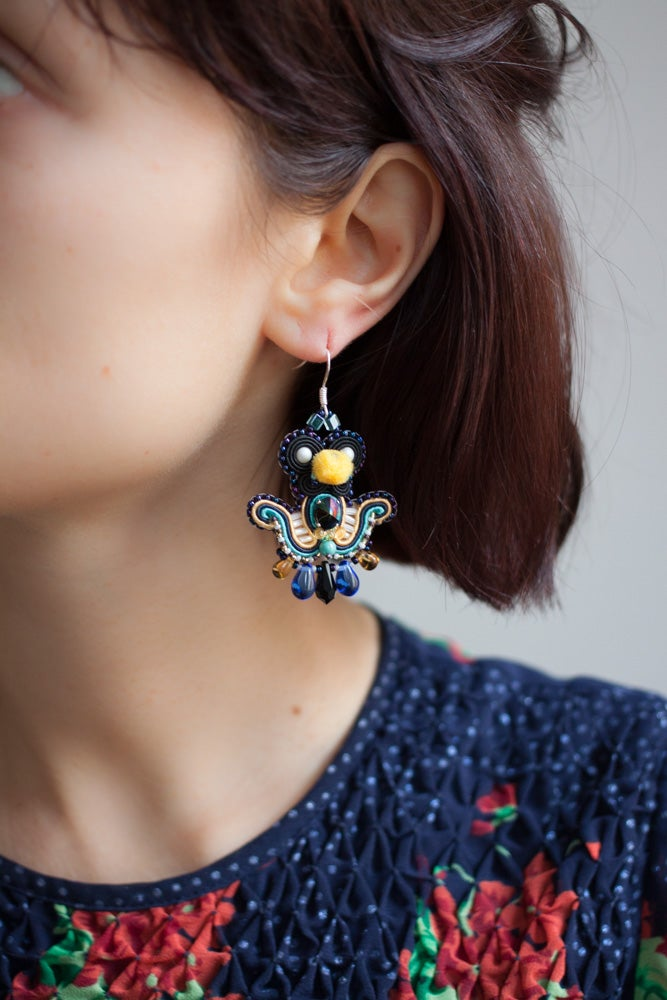 Image of Deli Earrings - Scarabaeus Journey