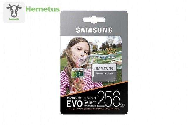 Image of Samsung 256GB micro SD EVO memory card