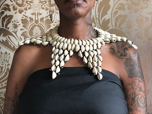 Image of Cowrie Shell Star Studded Collar
