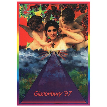 Image of Limited Edition Glastonbury Postcard | Cherubs 1997
