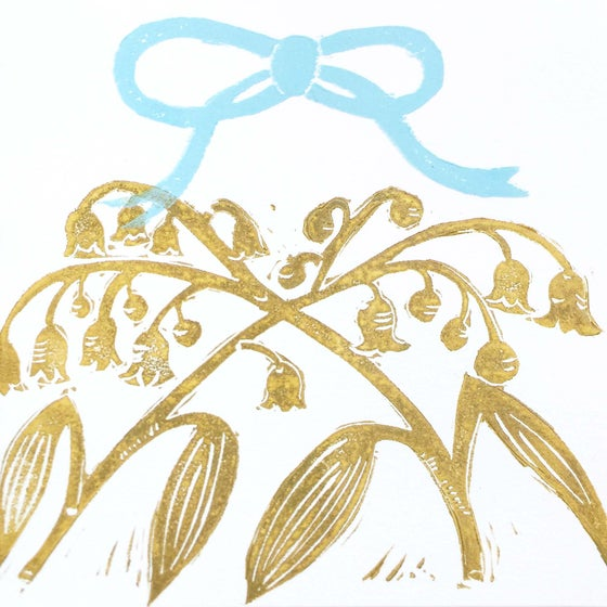 Image of Lily of the Valley & Blue Bow