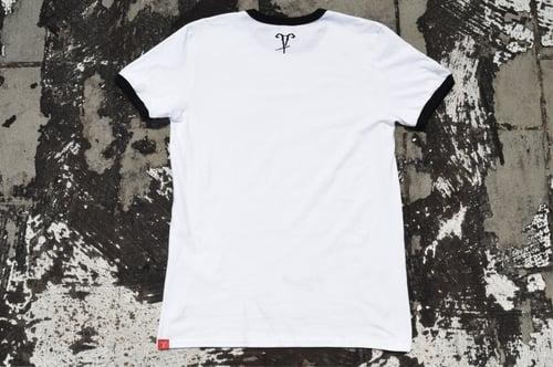 """Image of """"Stay Lit"""" White Ringer T-Shirt"""