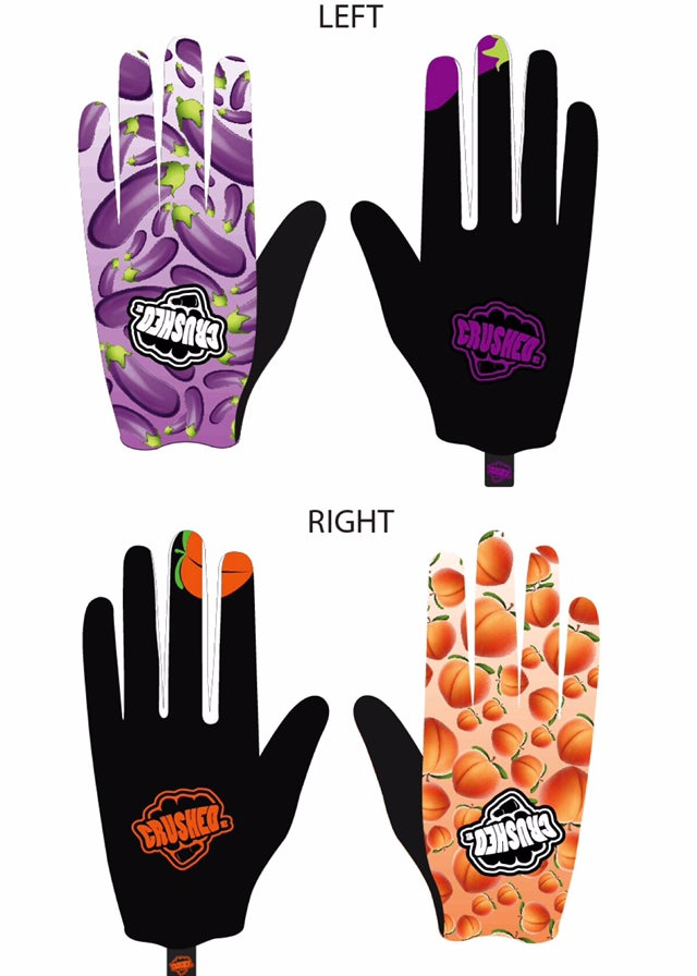 Image of EggPlant and Booty Peaches Gloves PRE ORDER