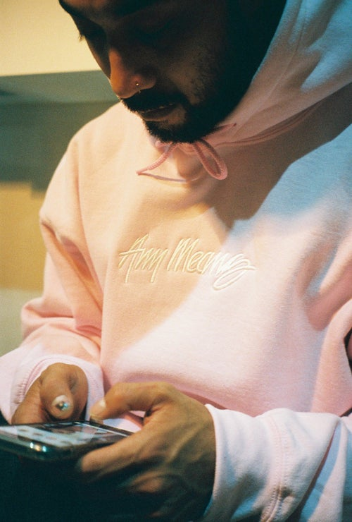 Image of OG Signature Hoodie in Light Pink