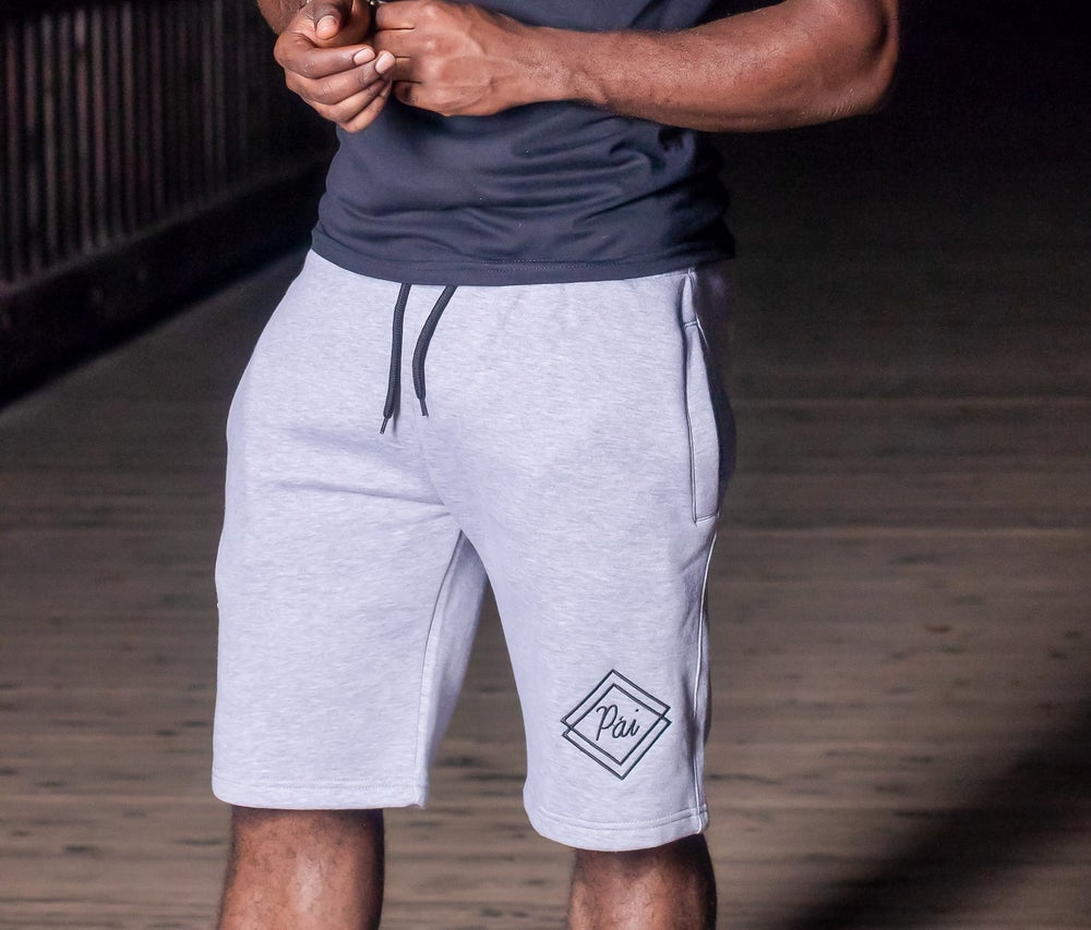 Image of Grey 'Phantom' Fleece Shorts