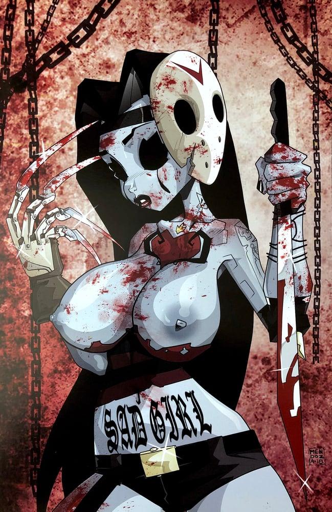 Image of Freddy Sad Girl Print