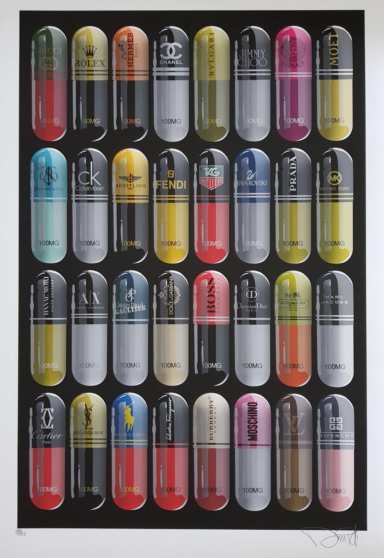 "Image of ""DESIGNER DRUGS"" DENIAL - XL PRINT LTD ED 25 - 90CM X 60CM"
