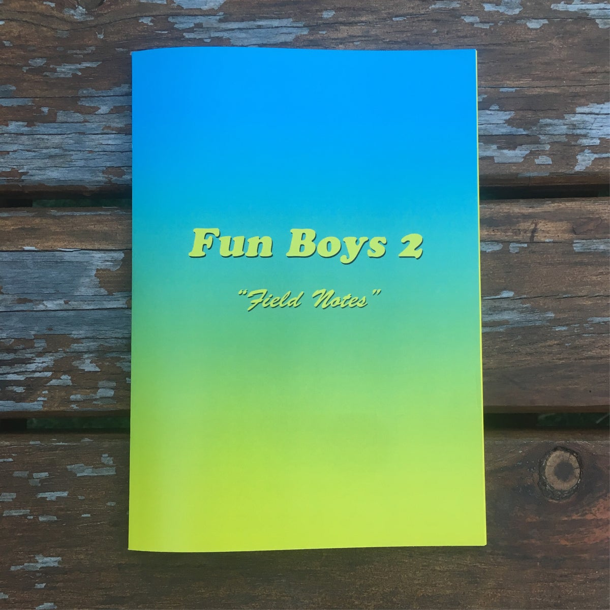 "Image of Fun Boys 2 ""field notes"" Zine"