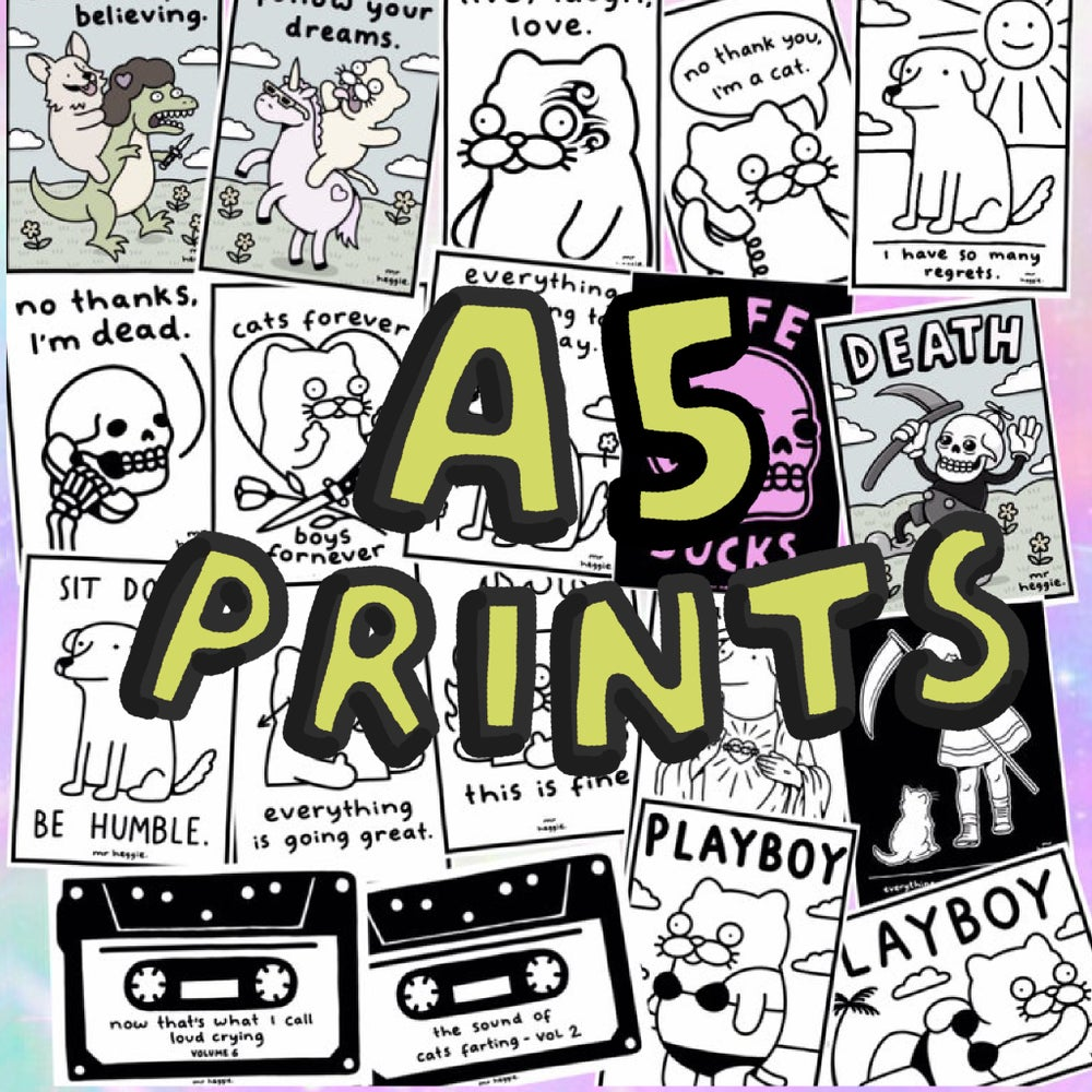 Image of The new A5 prints