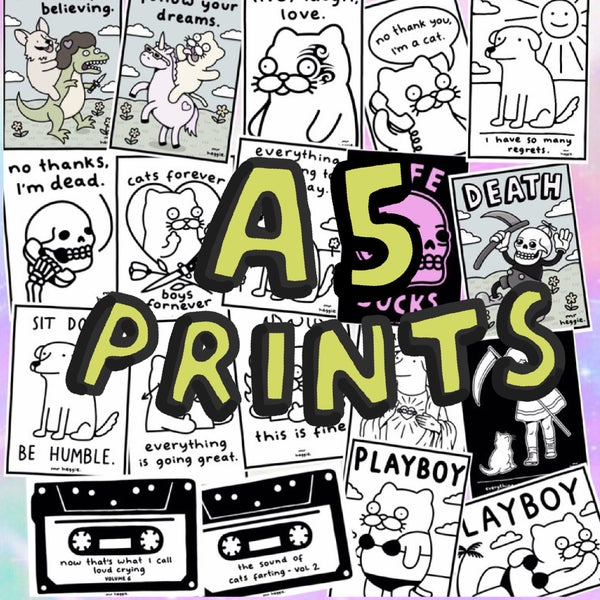 Image of The A5 prints