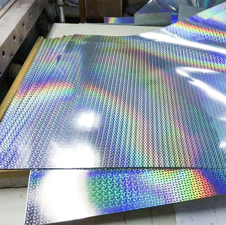 Image of Free Shipping Small Rectangle Hologram Eggshell Sticker Paper Sheets 100/200pcs