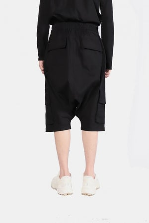 Image of IMMENSE - 雙口袋五分低檔短褲 (黑)
