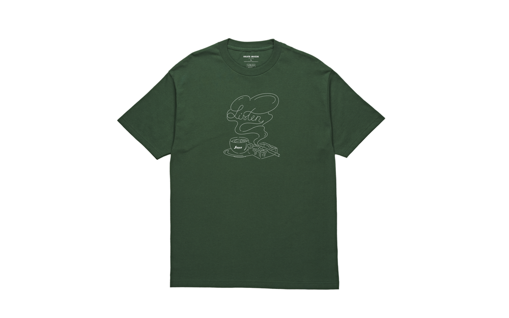 Image of Coffee & Cigarette tee (Forest green)