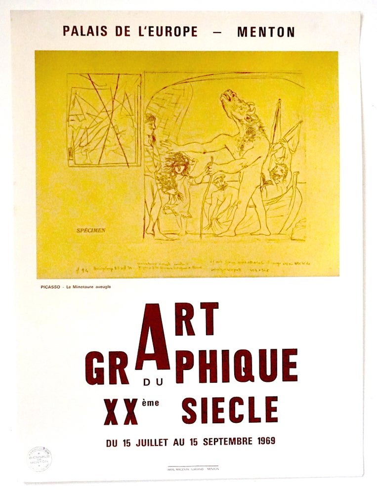 Image of poster / picasso / menton