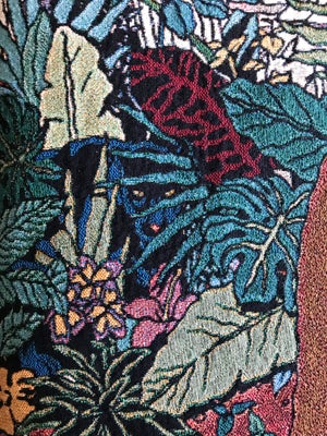 Image of Ensnared In The Mysteries Of The Amazon Jungle woven blanket