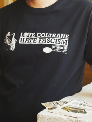Image of SAMARRETA // CAMISETA // T-SHIRT - LOVE NINA SIMONE / JOHN COLTRANE HATE FASCISM