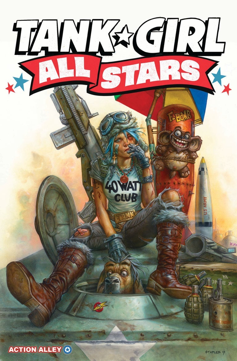 Image of COLLECTOR'S ITEM - Tank Girl All Stars - Exclusive Greg Staples Variant (+ poster & print!)