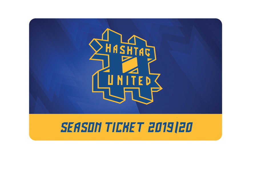 Image of 2019/20 SEASON TICKET - HASHTAG UNITED FOOTBALL CLUB