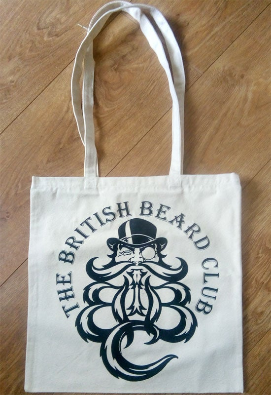 Image of The British Beard Club Heavy Cotton Tote Bag