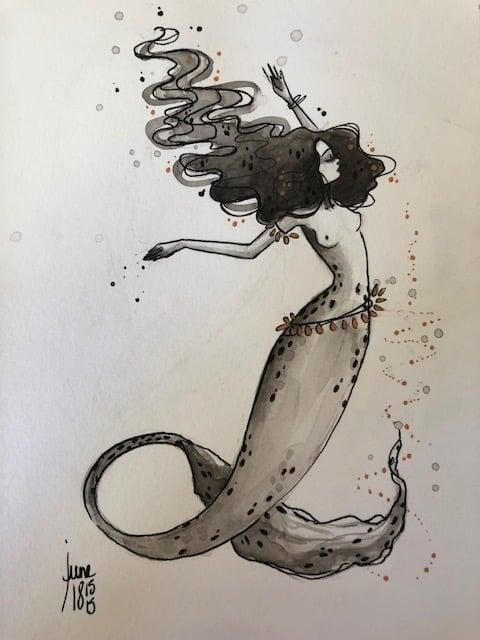 Image of Original 6 Flying mermaid