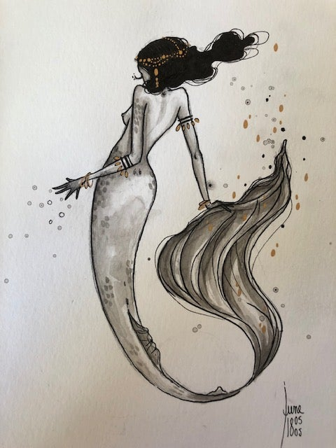 Image of Original 7 - Shy mermaid