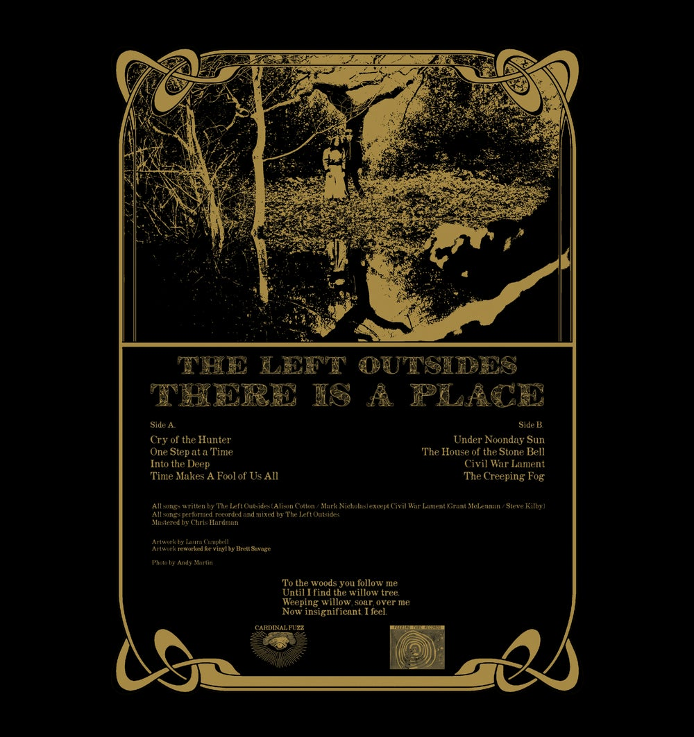 The Left Outsides - There Is A Place (Cardinal Fuzz) Screen Printed Outer Sleeve 1st Edition  1 LEFT
