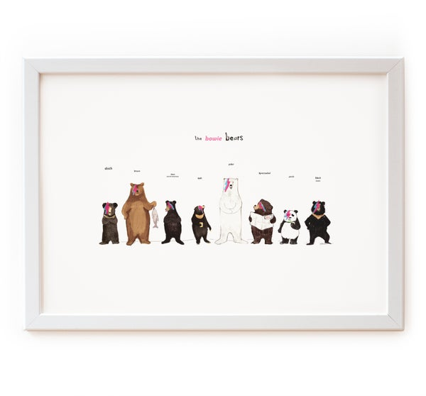 Image of The Bowie Bears Print