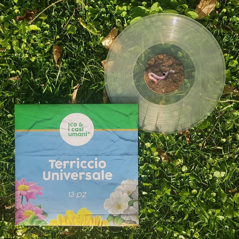"Image of NUOVO! Ico & I Casi Umani ""Terriccio Universale"" LP - vinile trasparente!"