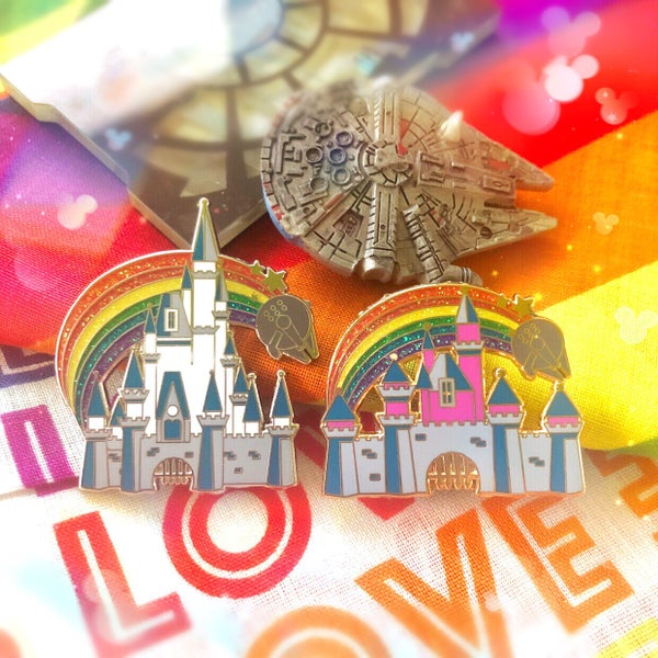 Image of Rainbow Castle - enamel pin