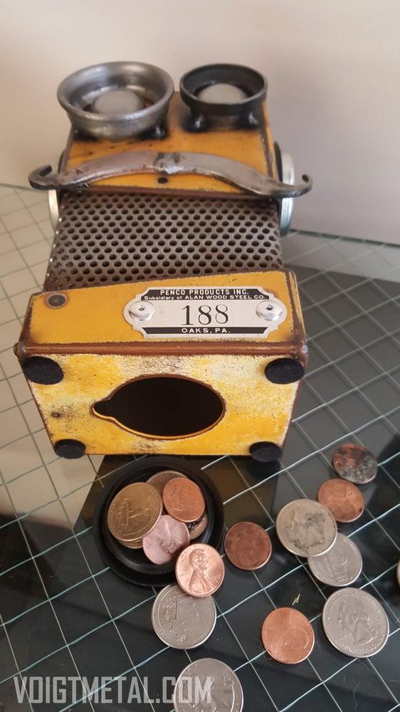 Image of Dr. Orange Medium Robot Bank