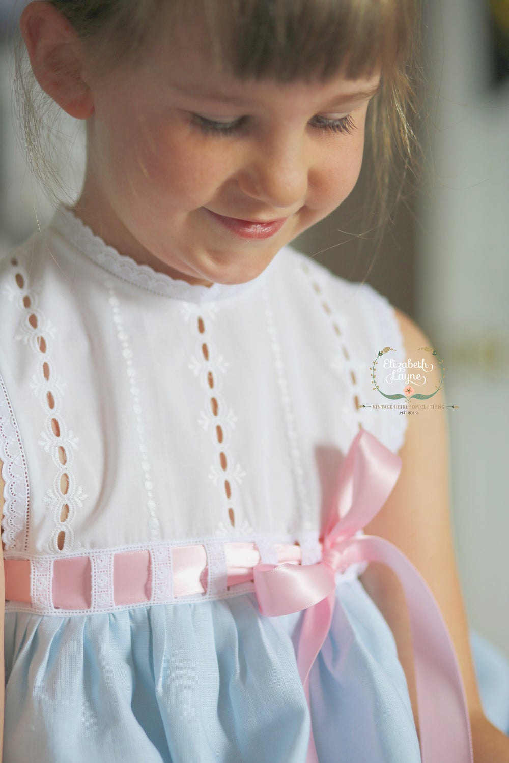 Image of Vintage Eyelet & Linen Primrose Dress