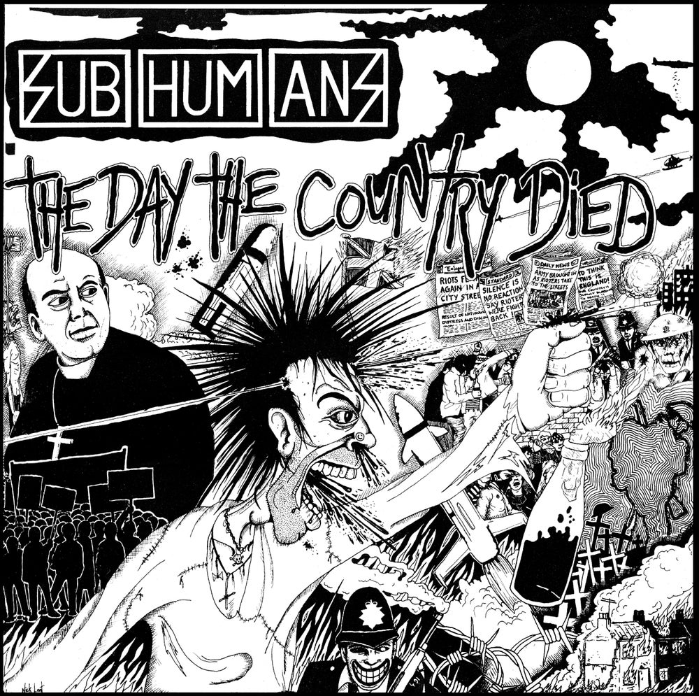 Image of SUBHUMANS - THE DAY THE COUNTRY DIED JIGSAW - ARTWORK BY NICK LANT