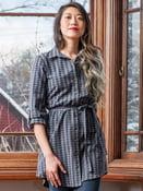 Image of Sabina Shirt Dress - Prussian