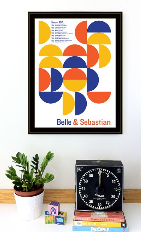 Image of Belle & Sebastian 2019 Tour Poster - NEW!