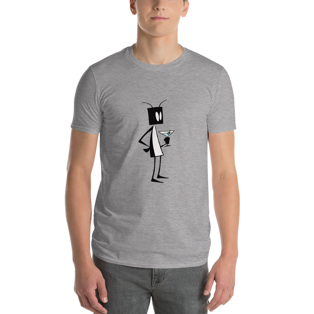 Image of Mens Bug Martini t-shirt (gray)