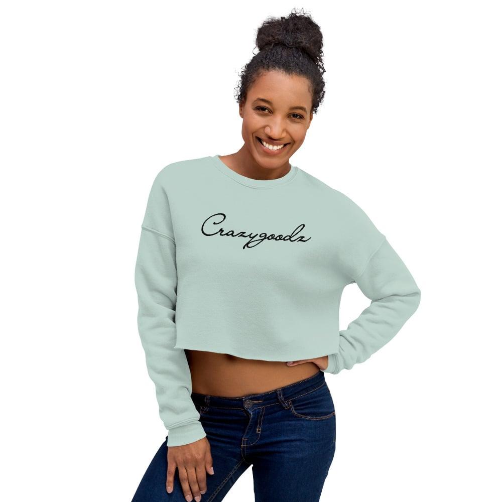 Image of CG Script Mint Women's Cropped Sweatshirt
