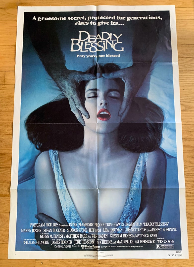 Image of 1981 DEADLY BLESSING Original U.S. One Sheet Movie Poster