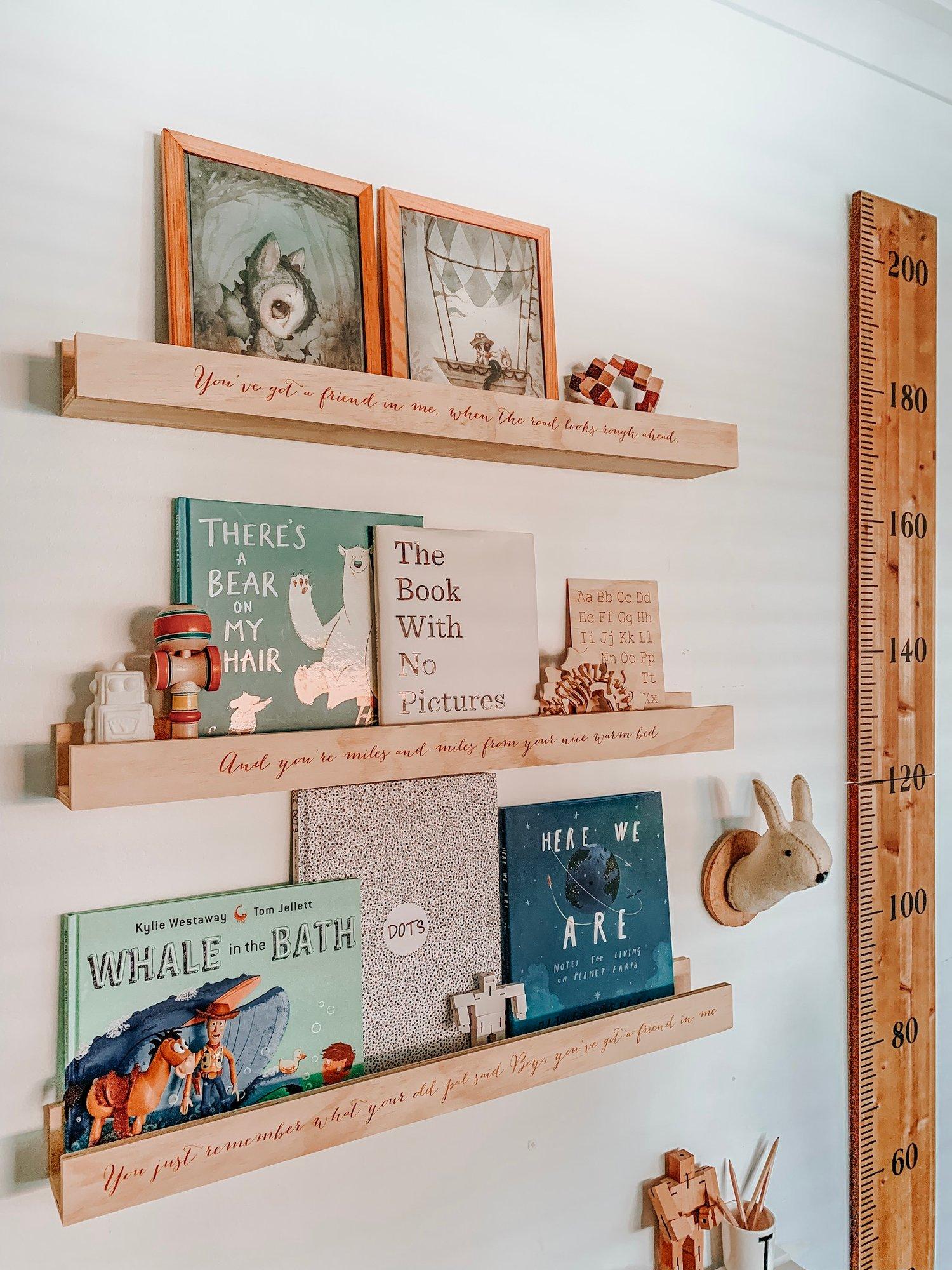 Image of Personalised shelf large size 80cm
