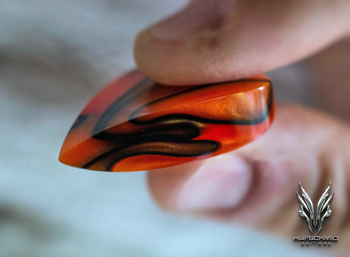 Image of Limited edition 'MAGMA SHREDDER' plectrum