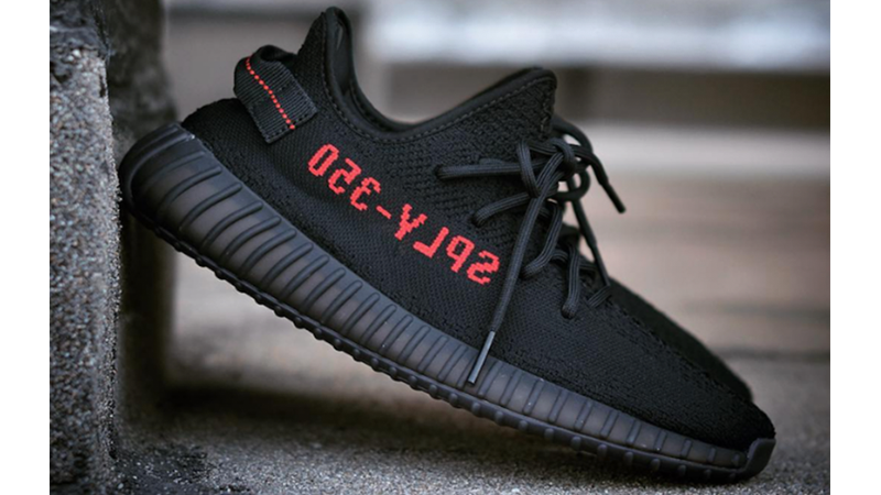 yeezy black and red